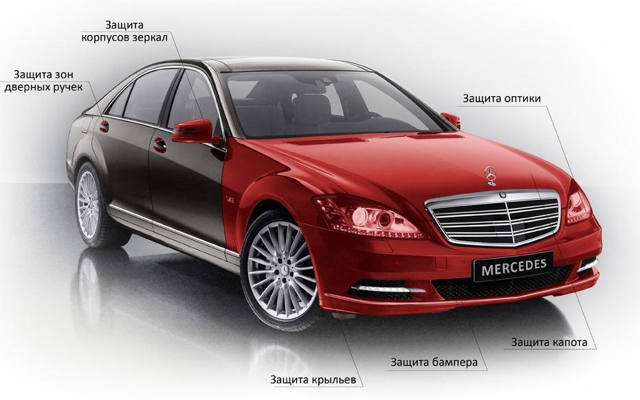 Антигравийная пленка стандарт ++ Mercedes S221