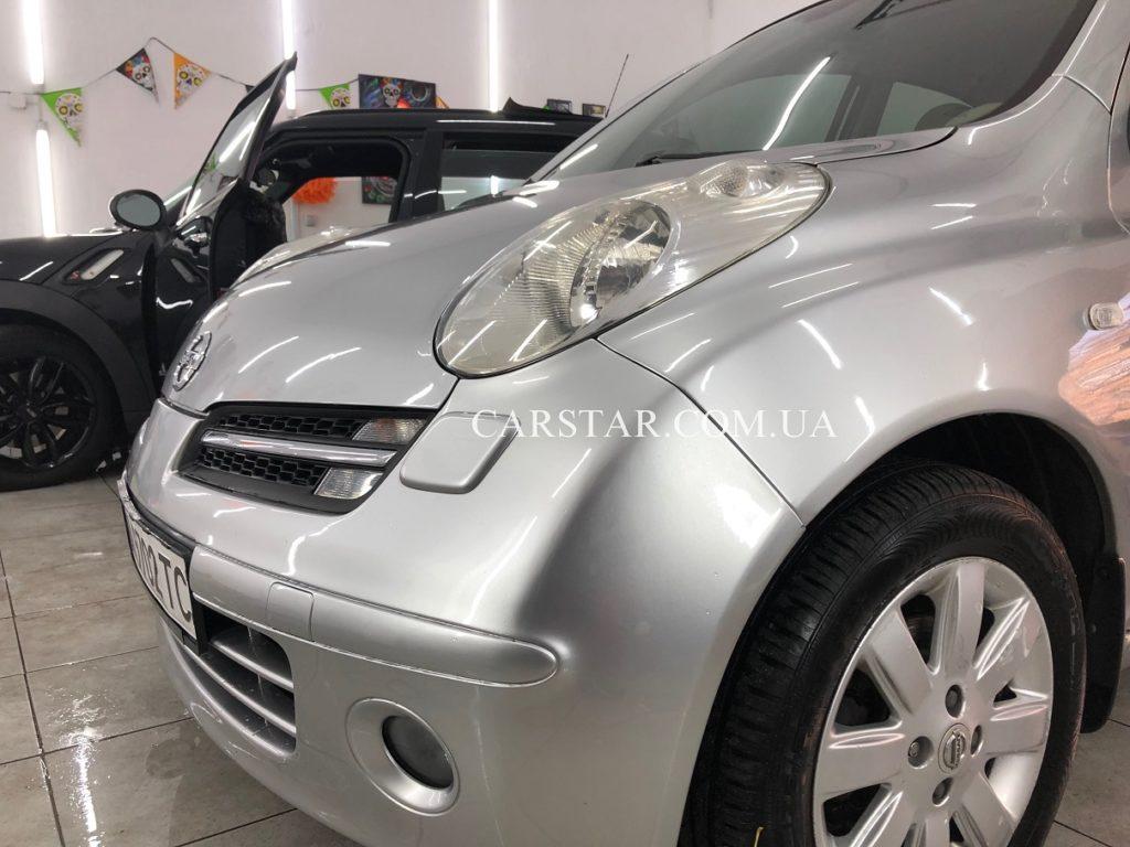 Полировка фар Nissan Micra