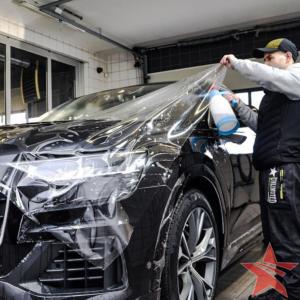 Audi Q8 оклейка авто пленкой