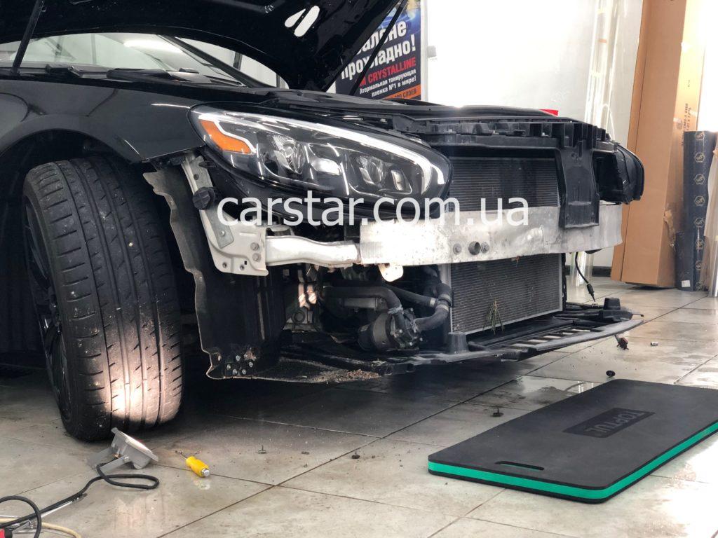 Mercedes SL демонтаж переднего бампера