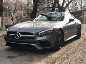 Mercedes SL полностью оклеенный автомобиль в серый матовый цвет