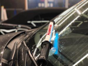 Ремонт лобового стекла на Mazda Cx5
