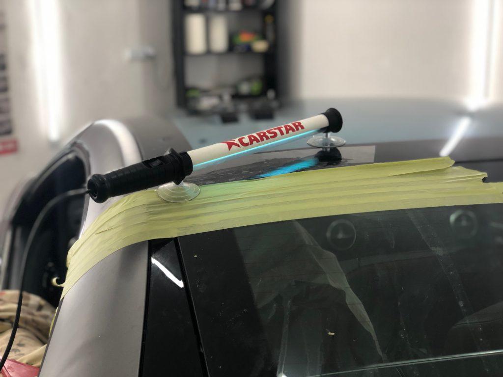 Ремонт и восстановление стеклянной панорамной крыши на Mercedes SL