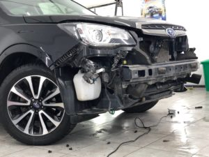 Защитная сетка радиатора в бампер на Subaru
