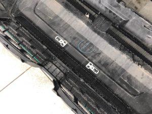 Установка защитной сетки в бампер